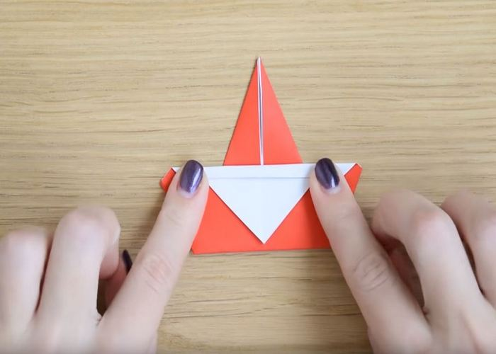 дед мороз оригами
