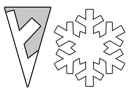 простые снежинки