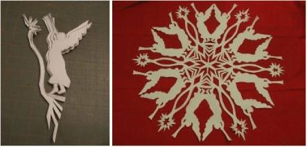 снежинки с ангелами