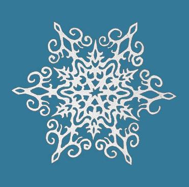 изящные снежинки