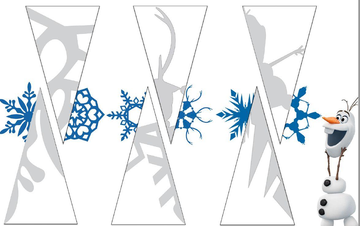 схема снежинки со снеговиком Олаф
