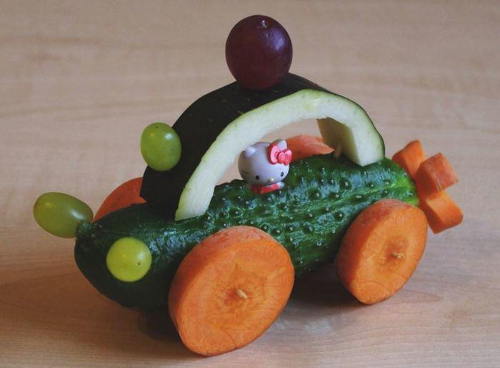 машинка из овощей