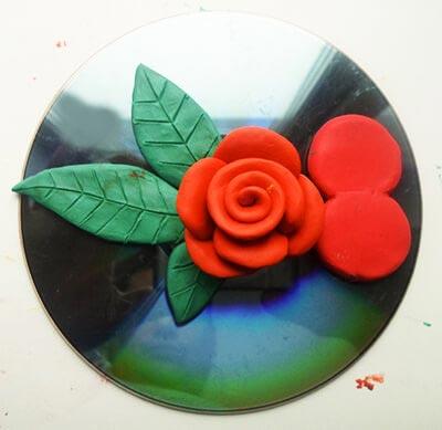 пластилиновая роза