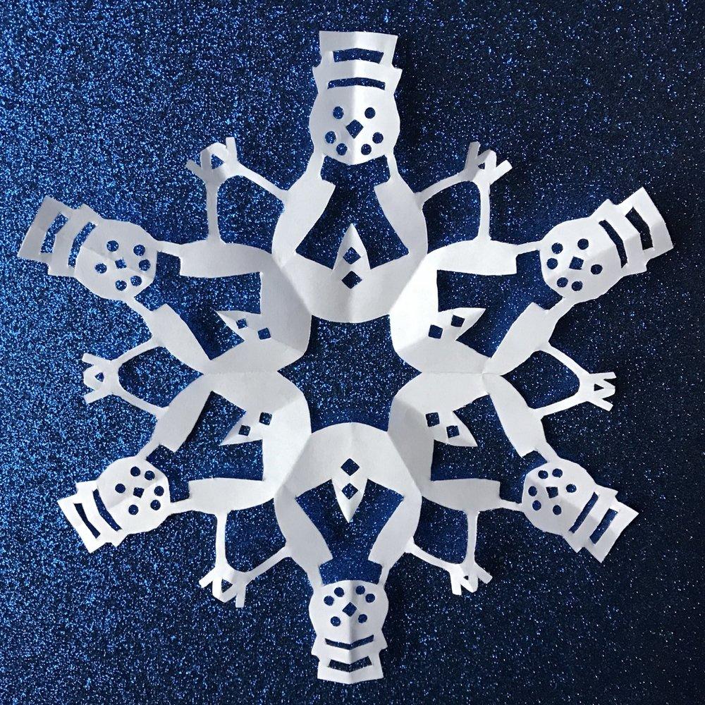 снежинка-снеговик
