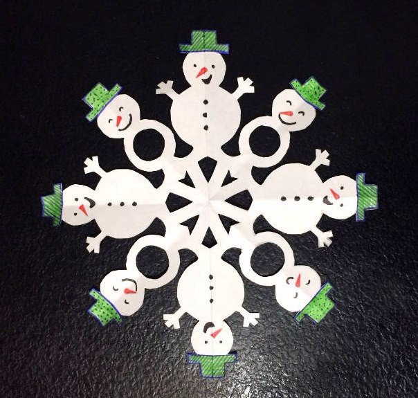 снежинка снеговик