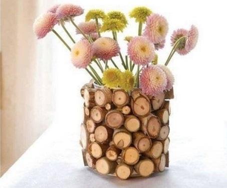 деревянная вазочка