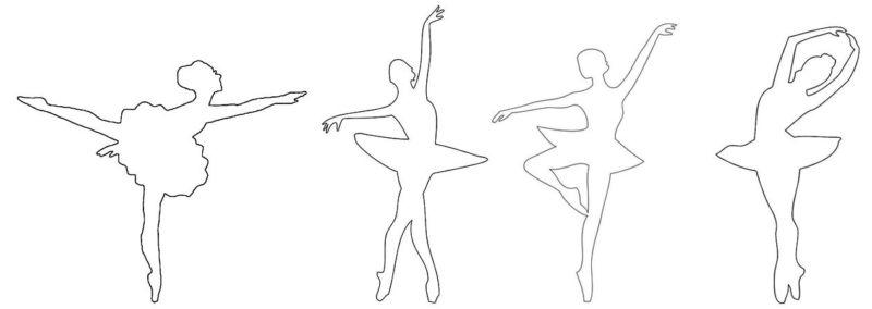 вырезаем балерину